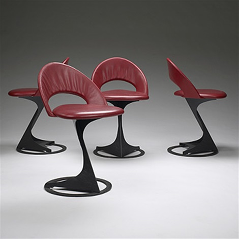 tabourettli theater chairs set of 4 by santiago calatrava