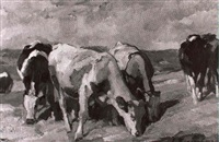 kühe auf der weide by emanuel hegenbarth