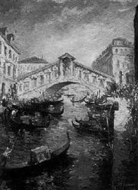 ponte di rialto, venice by charles vignon