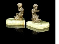 faun bookends (pair) by antonio amorgasti