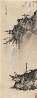 岩壑孤舟图 by dai jin