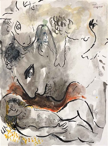la tentation by marc chagall
