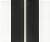 untitled, two black vertical lines by john mclaughlin