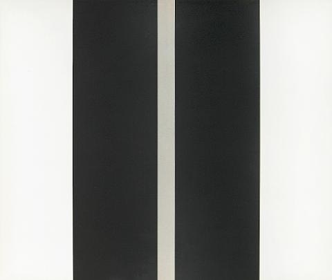 untitled two black vertical lines by john mclaughlin