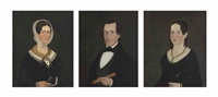portraits: husband, wife, and daughter (3 works) by william w. kennedy