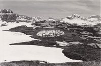 throwing snow into a circle : a 7 days walk in the glärnisch massif, suisse by richard long