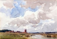 stormy weather, cley by arthur gerald ackermann