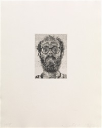 self portrait by chuck close