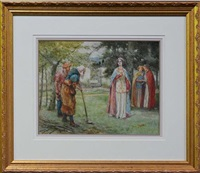 king richard ii, the duke of yorks garden by walter s. stacey