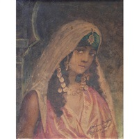 orientalist portrait by maria (philips-weber) weber