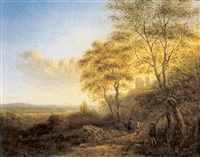 landschap by wilhelm julius august nabert