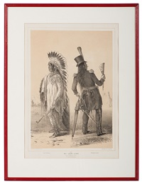 no. 25 / wi-jun-jon. / an assinniboin chief. by george catlin