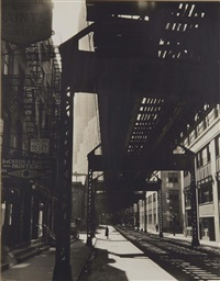 el, second and third avenues lines by berenice abbott