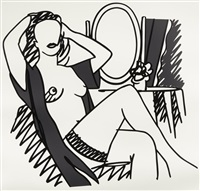 nude and mirror by tom wesselmann