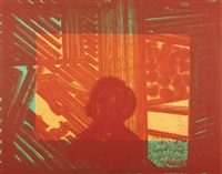 artist and model (in green and yellow) by howard hodgkin