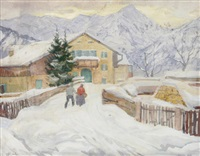 wintertag in partenkirchen by otto weil