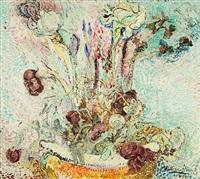 weiße iris by wilhelm von hillern-flinsch