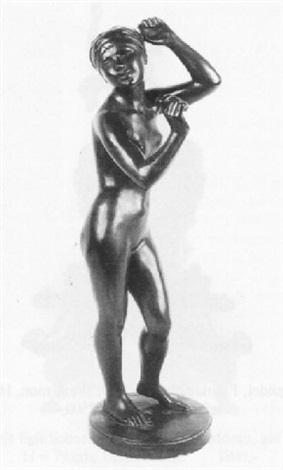weiblicher akt mit kopftuch by alexander graumann