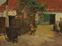 a la ferme by gustave halbart