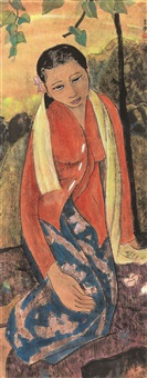 坐姿女子 (seated lady) by cheong soo pieng