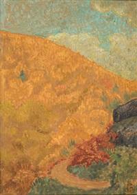 paysage d'automne à chateauneuf by paul sérusier