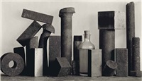 18 pieces with medicine bottle, new york, 1980 by irving penn