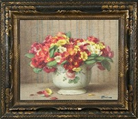 flowers in a vase by ernest fillard