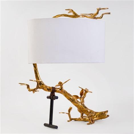 Jonathan Adler Cast Brass Kyoto Table, Jonathan Adler Table Lamp