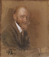 portrait of prince vladimir baryatinsky by il'ya repin