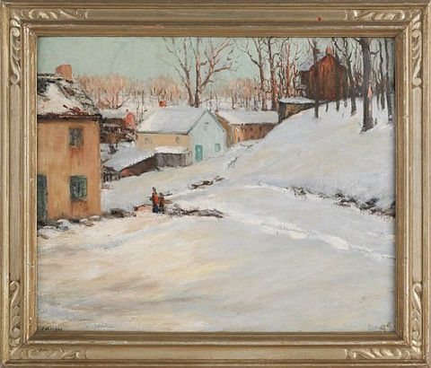 winter landscape by frederick r. wagner