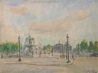 place de la concorde, paris by mikhail nikolaevich yakovlev