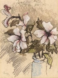 still life with hibiscus by gregoire johannes boonzaier