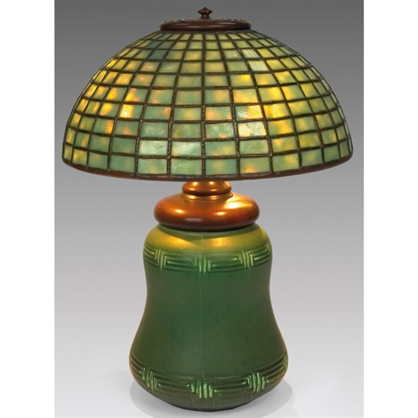 lamp shadewbase by hampshire by tiffany studios