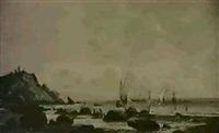 ankunft der fischer by f. dailly