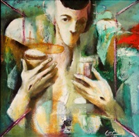 woman drinking by emmanuel garibay