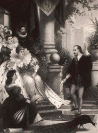 shakespeare reading before queen elizabeth by j.l. wardleworth