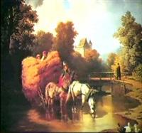 a haycart by jean leon
