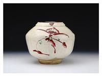 vase with chamfering decoration by fujimoto yoshimichi