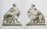 ariadne auf dem panther (2 works after johann heinrich von dannecker) by johann adam ackermann
