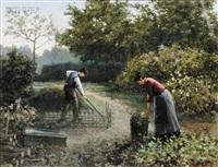 in the garden by henricus gerardus de korte