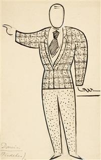 domin - entwurf von kostümen für das stück r.u.r. by josef capek