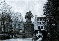 bruxelles - square du petit sablon by jean-claude gotting