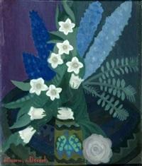 delphiniums dans un vase by albert (januarius di decarli) decarli