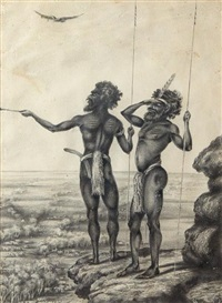 aboriginal hunters by australian school (19)