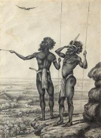 aboriginal hunters by australian school (19)