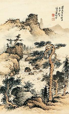 松林听泉 by xiao xun