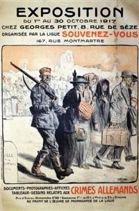 exposition de documents relatifs aux crimes allemand by lucien-hector jonas