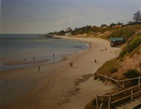 the beach at red bluff, victoria by john earle