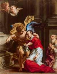 der heilige karl borromäus by francesco caccianiga