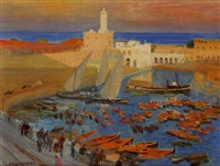 le port d'alger by jacques simon